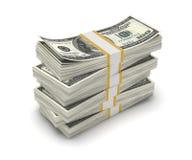 Bunt av dollaren USA som isoleras på vit bakgrund Arkivbilder