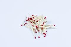 Bunt av dussintals matchsticks Royaltyfri Foto