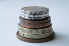 Bunt av engelska mynt Royaltyfri Fotografi