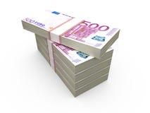 Bunt av euroräkningar arkivbild