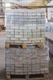 Bunt av färdiggjutna förstärkta konkreta tjock skiva i ettbyggnad fabriksseminarium Royaltyfri Bild