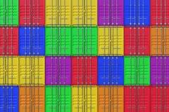 Bunt av färgrik bakgrund för skepplastbehållare Royaltyfri Foto