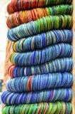 Bunt av färgrika armringar Royaltyfri Fotografi