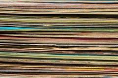 Bunt av gamla tidskrifter för bakgrund Royaltyfri Fotografi