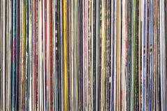 Bunt av gamla vinylrekord fotografering för bildbyråer
