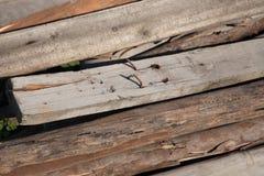 Bunt av gamla Wood timmer arkivfoton
