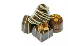 Bunt av handgjorda choklader arkivfoto