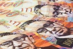 Bunt av israeliska pengarräkningar av sikel 100 Fotografering för Bildbyråer