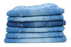 Bunt av jeans arkivbilder