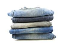 Bunt av jeans arkivfoton