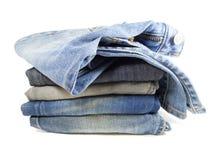 Bunt av jeans royaltyfria foton