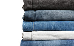 Bunt av jeansupp-slut Arkivbild