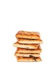 Bunt av kakor som isoleras på vit Royaltyfria Bilder