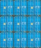 Bunt av lastbehållare på docksna royaltyfria bilder