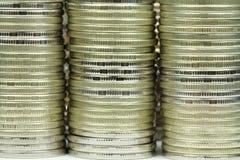 Bunt av mynt Arkivbild