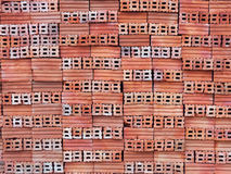 bunt av orange tegelstenar Arkivbilder