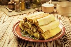 Bunt av pannkakor, pannkakor för en slätt, frukost, mellanmål Pannkakor D Royaltyfri Fotografi