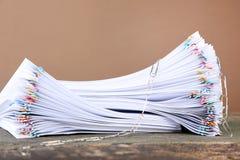 Bunt av papperen arkivfoton
