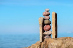 Bunt av pebbles Royaltyfri Foto