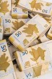 Bunt av pengar Arkivbild