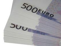 Bunt av pengar för 500 euro Royaltyfri Bild