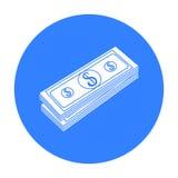 Bunt av pengarsymbolen i svart stil som isoleras på vit bakgrund Pengar och illustration för vektor för finanssymbolmateriel Royaltyfri Bild
