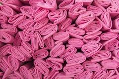 Bunt av rosa tyg Arkivbilder