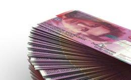Bunt av schweizisk franc royaltyfria bilder