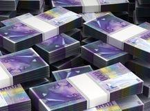 Bunt av schweizisk franc stock illustrationer