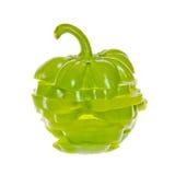 Bunt av skivad grön spansk peppar royaltyfria bilder