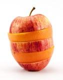 Bunt av skivan Apple och apelsinen Arkivbild