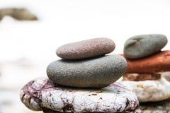 Bunt av släta stenar för runda Fotografering för Bildbyråer