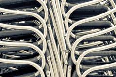 Bunt av stol som är svartvit Arkivfoto