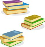 Bunt av symbolen för bokvektorillustration royaltyfri illustrationer
