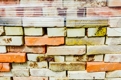 Bunt av tegelstenar Arkivfoto