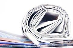 Bunt av tidningar Arkivbild