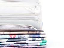 Bunt av tidningar Arkivbilder