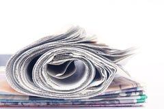 Bunt av tidningar Royaltyfri Fotografi
