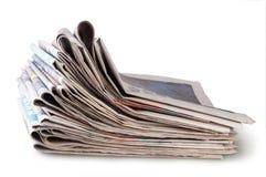 Bunt av tidningar Royaltyfri Bild