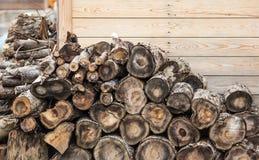 Bunt av trä royaltyfri bild