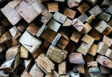 Bunt av trä Royaltyfria Bilder