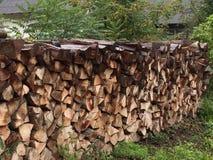 Bunt av trä Arkivbilder