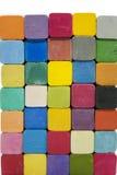 Bunt av variationsfärger av kritapastell Arkivfoto