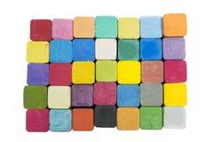 Bunt av variationsfärger av kritapastell Fotografering för Bildbyråer