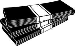 Bunt av vektorn för illustration för pengarsymbol den redigerbara i svart färg Royaltyfri Illustrationer
