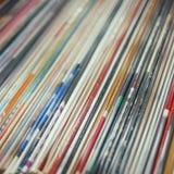 Bunt av vinyler Fotografering för Bildbyråer