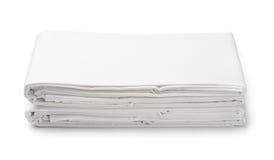 Bunt av vit vikta sängkläderark royaltyfri bild
