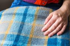 Bunt av woolen kontrollerade filtar Arkivbild