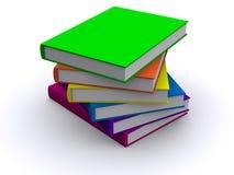 bunt för böcker 3d stock illustrationer