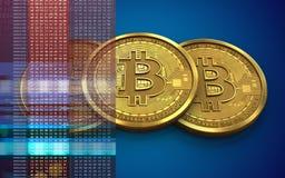 bunt för bitcoin 3d Royaltyfri Foto